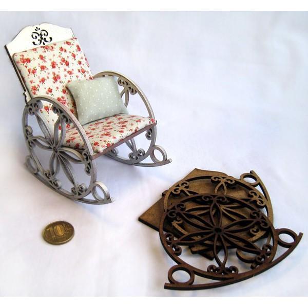 Миниатюрное кресло качалка своими руками