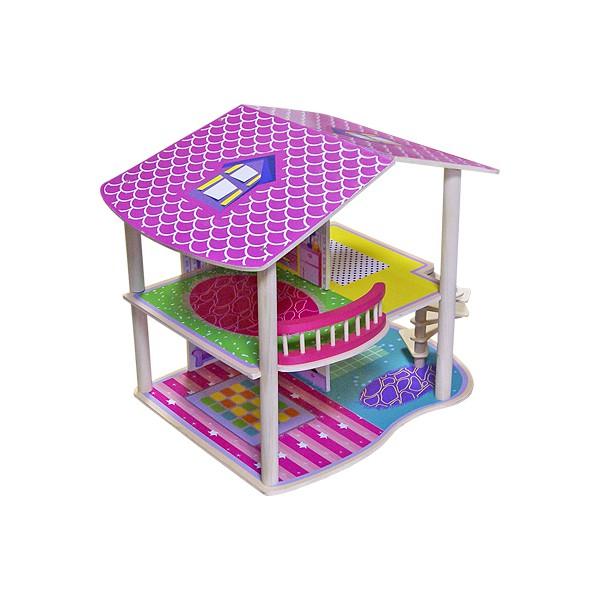 Кукольный домик Paremo Фиолент с мебелью 15 предметов PD216-02