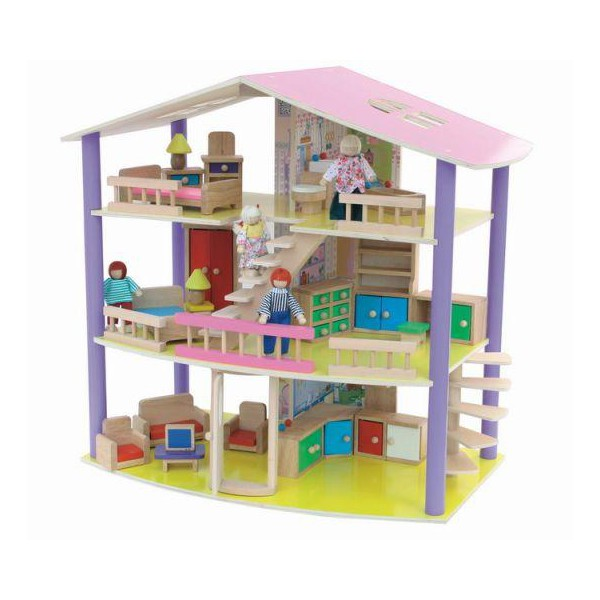 Craft Кукольный домик Флоренция с мебелью и куклами