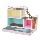 """Кукольный домик со светом """"Стокгольм"""" с выдвигающимся бассейном Lundby"""