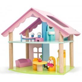 """Кукольный домик """"Открытый коттедж"""" с мебелью и куклой, Le Toy Van"""