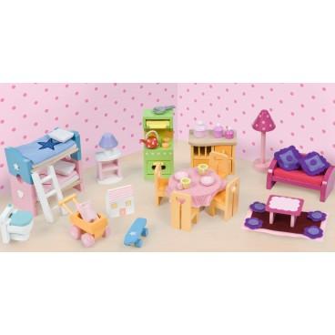 """Кукольная мебель """"Базовый набор Люкс"""", 35 предметов Le Toy Van"""