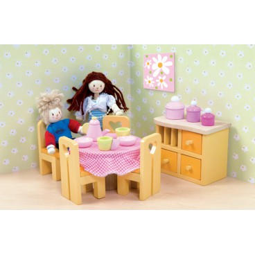 "Кукольная мебель Сахарная слива ""Столовая"" Le Toy Van"