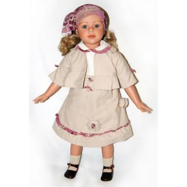 """Кукла коллекционная 80 см """"Алтея в бежевом костюме"""", Carmen Gonzalez"""