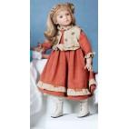 """Кукла 72 см """"Кэрол в терракотовом платье и жилете"""", Carmen Gonzalez"""