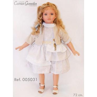 """Кукла коллекционная 72 см """"Кэрол в светлом платье и болеро"""", Carmen Gonzalez"""